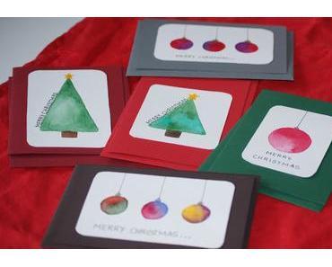 Weihnachtskarten selber basteln (DIY)