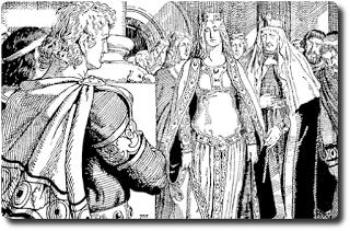Nibelungen Sage 6/28 • Wie Siegfried zum ersten Male Kriemhild sah
