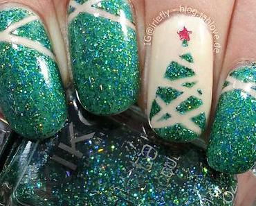 """[Nails] Festliche Weihnachtsnägel mit Kiko """"441 Illusion Green"""""""