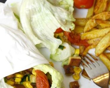 Clean Eating: Vegane Salat Wraps by 'Our Clean Journey'