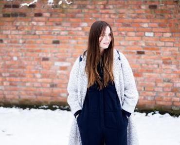 Dunkelblauer Zara Jumpsuit mit Mantel