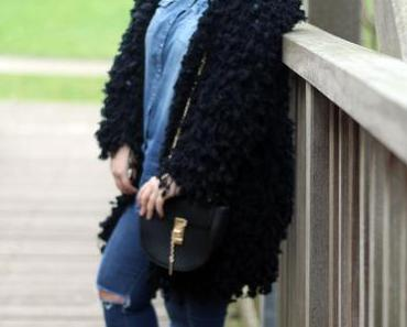 Outfit: Fluffy Zara Coat and Denim Look