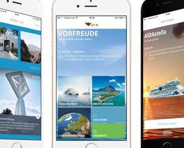 AIDA: Neue App für mobile Endgeräte -erstmals mit Live-Feed Urlaubsgefühle in Echtzeit auf dem Smartphone erlebe