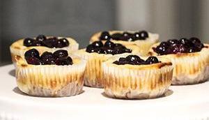 Cheesecake Muffins Blaubeer Topping