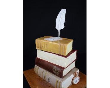 Buch-Torte / literary cake zum 50. Geburtstag