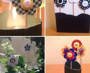 Blumen bunt oder schwarz-weiß – oder – DIY-Karten und Blumenstecker