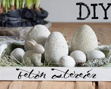 Beton-Ostern und Gutscheinhalter