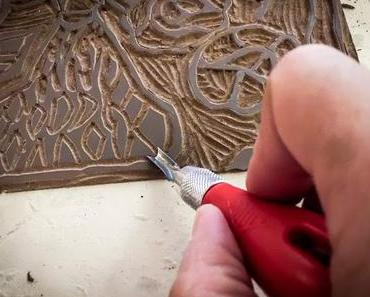 Linolschnitt – Linoldruck auf Papier und Stoff || Muster-Mittwoch März