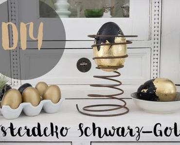 Osterdeko Schwarz-Gold
