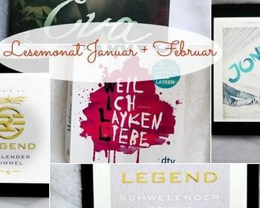 Lesemonate Januar + Februar (+ Mein erstes Youtube-Video)