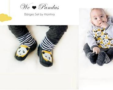 Nähen fürs Baby: Panda-Set
