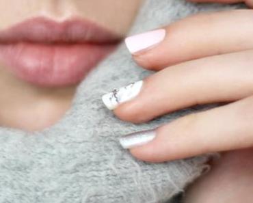 [Nailart] Rosenquarz, Serenity, Marmor & Silber
