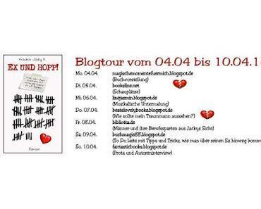"""[Blogtour] Blogtour """"Ex und Hopp - Wie ich über meinen Ex hinweg in 69 Dates"""" von Jacky D."""