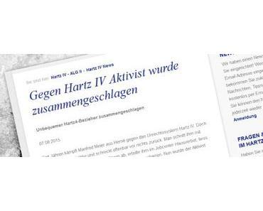 Gegen Hartz IV Aktivist wurde zusammengeschlagen