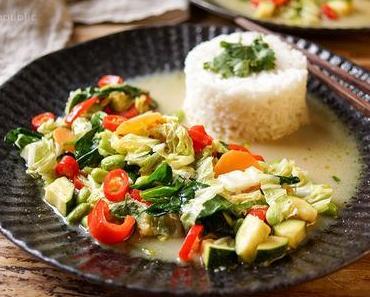 Grünes Thai Curry mit Gemüse