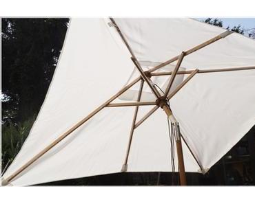 Sekey® Holz-Sonnenschirm der Marktschirm für den Garten