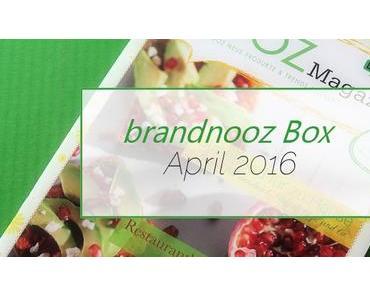 brandnooz Box April 2016 - Immer für eine Überraschung gut