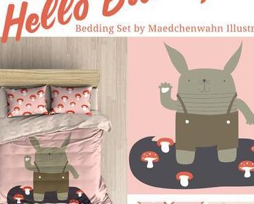 Neue Designs - Hasi und Retro Bär vielleicht für Bettwäsche?