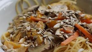 Spaghetti Gemüse-Zitronen-Sauce