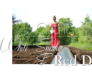 White Sneaker &Red; Maxidress
