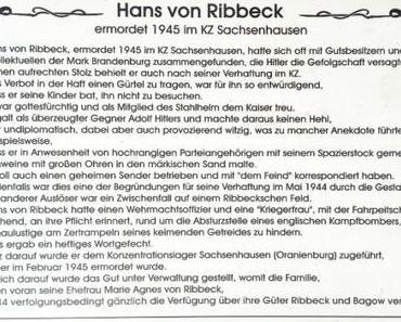 Herr Ribbeck von Ribbeck im Havelland…
