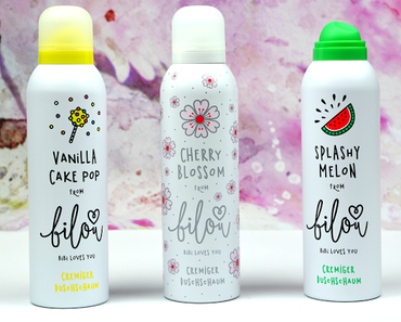 [NEU & LE] Review: Bilou Duschschaum - Vanilla Cake Pop, Splashy Melon & Cherry Blossom