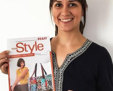 """Meine Sechseck-Tasche """"Hexagon"""" im neuen Pfaff Magazin YourStyle mit Nähanleitung dieser Reisetasche für Euch"""