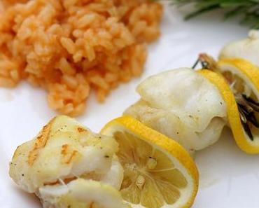 Zitronen-Fisch-Spieße