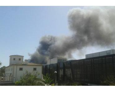 Feuer bei Son Moix-Stadion