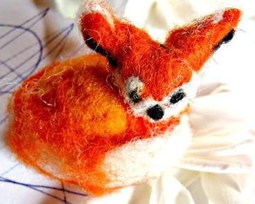 #creadienstag - ein Fuchs aus Nadelwolle