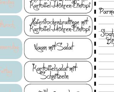 Was esse ich heute? Essensplan für die KW 29