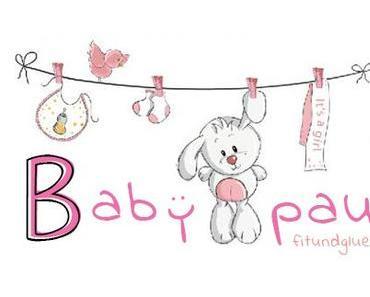 {DIY} Geschenk zur Geburt: selbstgemachte Babygirlande