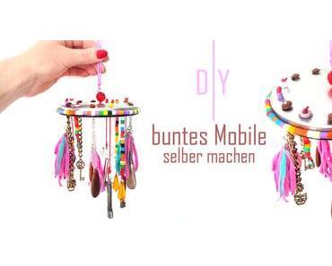 [diy] buntes Mobile für drinnen und draußen