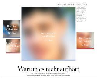 """Keine visuelle Terror- und Amokwerbung in Zeitungen: Selbstbeschränkung, """"Werther-Effekt"""" und mediale """"Ansteckung"""""""