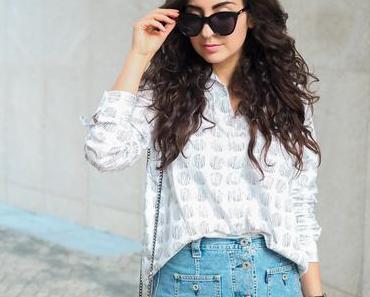 Denim Skirt Outfit //  Good Shirt