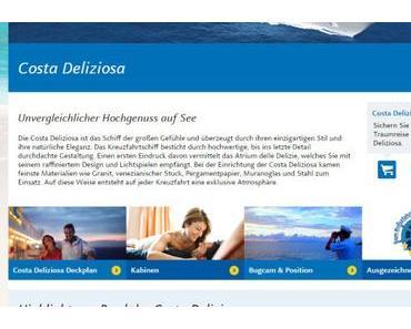 """Costa Deliziosa """"vom Kreuzfahrttester empfohlen""""!"""