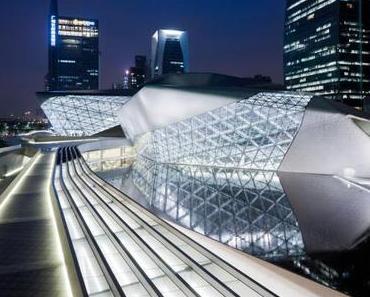 BauNetz präsentiert Bildstrecke zum Opernhaus Guangzhou