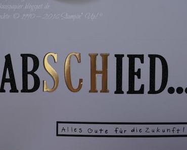 Abschiedskarte XXL