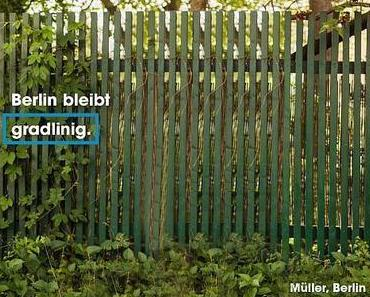 SPD + Berlin Wahl. Unser Programm: Lattenzäune.