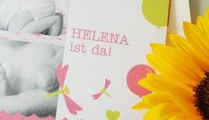 Feine Karten unsere Geburtsanzeige