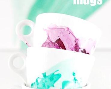 DIY // Bunt marmorierte Tassen