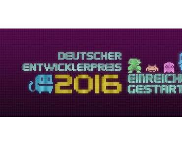 Deutschlands beste Entwickler gesucht: Deutscher Entwicklerpreis 2016 startet Einreichungsphase