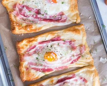 """Croissant, Bacon & Ei """"all in one"""" Frühstücks Ecken"""