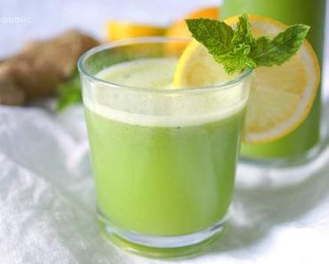 Ingwer-Minze-Limonade (zuckerfrei)