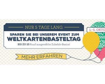 Angebote zum Weltkartenbasteltag + Gratis Designerpapier