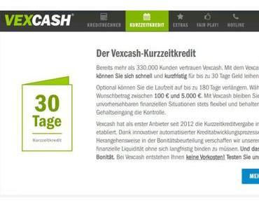 Vexcash – Der Dienstleister unter den Kreditanbietern