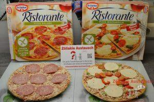 Die glutenfreien Dr. Oetker Pizzen: Salami und Mozzarella. Gewinnspiel