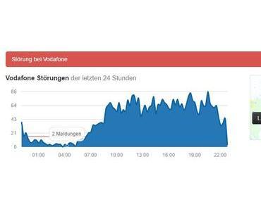 Einen Tag lang Vodafone-DSL-Ausfälle