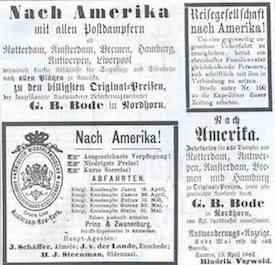 Deutsche Auswanderer in den USA im 19. Jahrhundert