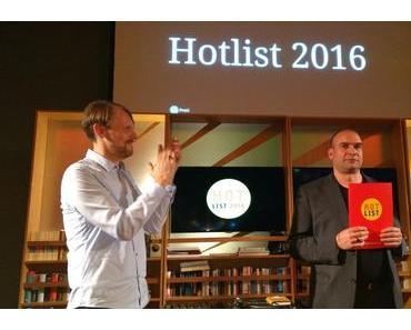 Arco Verlag erhält den Preis der Hotlist 2016